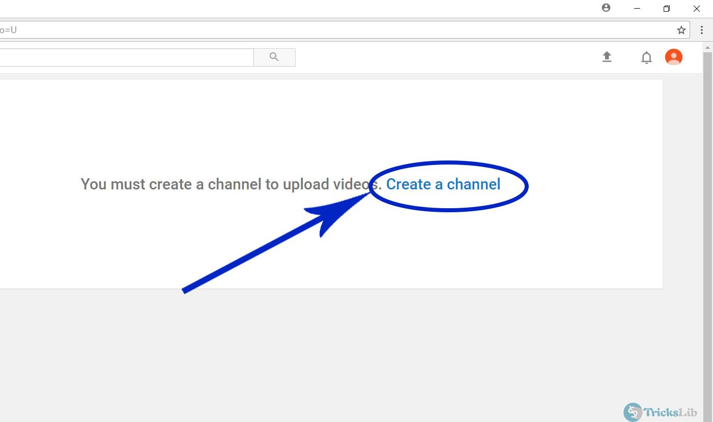YouTube's Create A Channel Page