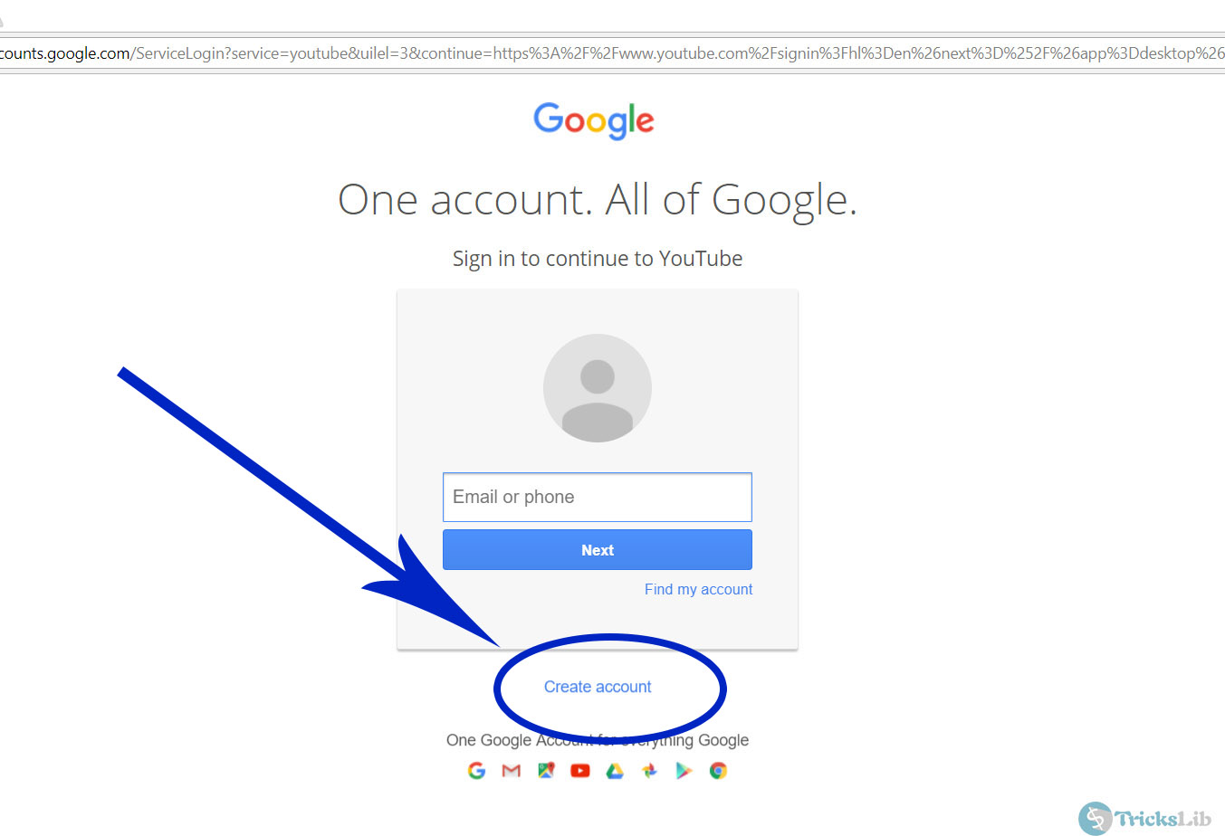 Google Account Login Page