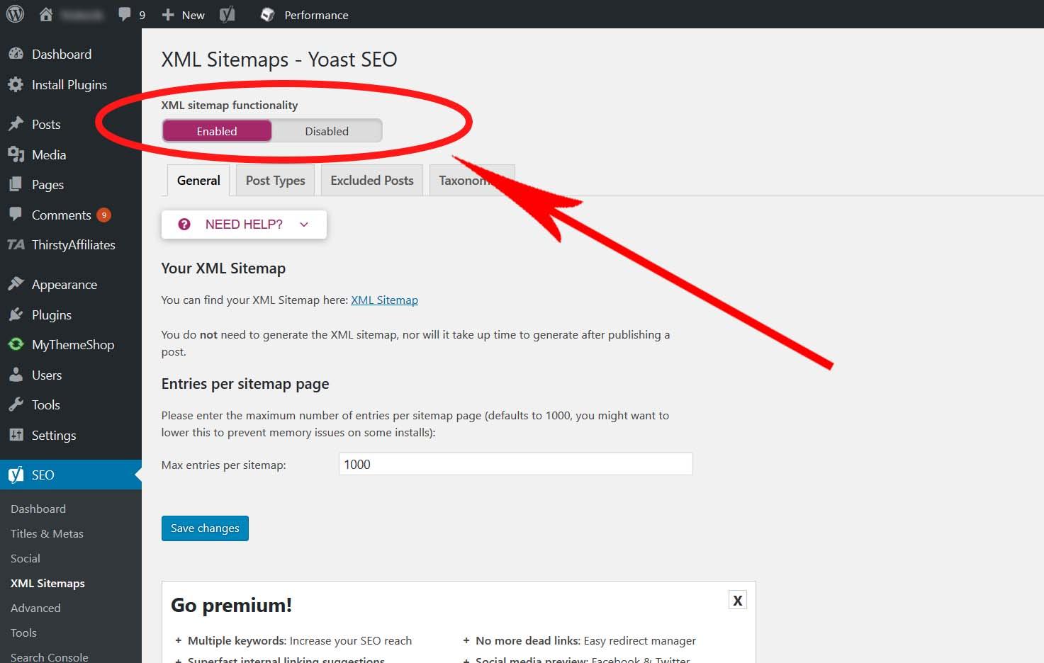 XML yoast Sitemap