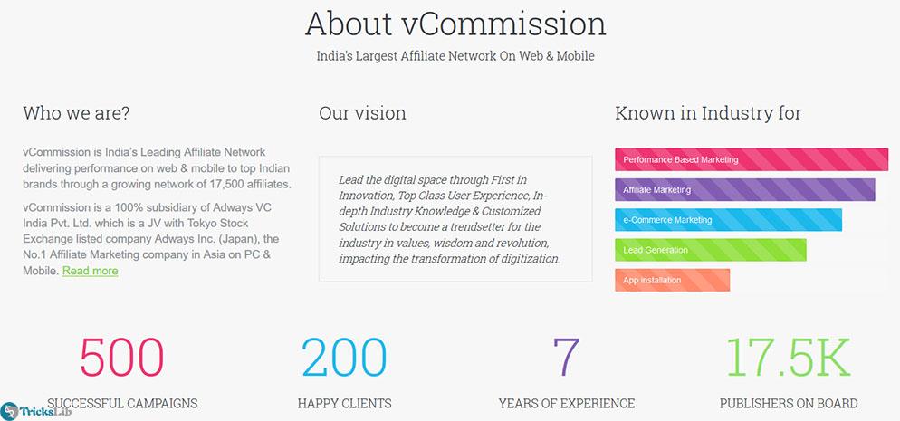 vCommission affiliate