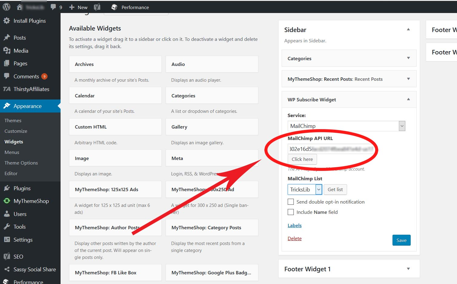 Add email subscription to WordPress